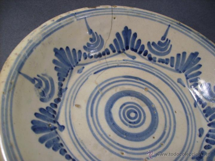Antigüedades: PLATO CERÁMICA PUENTE DEL ARZOBISPO ( TALAVERA ) XIX - Foto 5 - 52870472