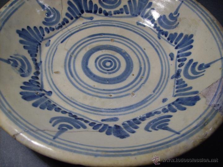 Antigüedades: PLATO CERÁMICA PUENTE DEL ARZOBISPO ( TALAVERA ) XIX - Foto 6 - 52870472