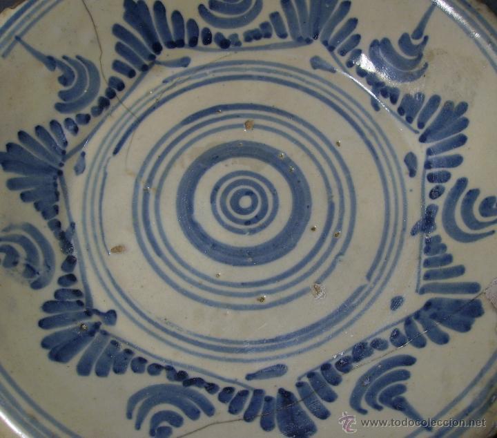 Antigüedades: PLATO CERÁMICA PUENTE DEL ARZOBISPO ( TALAVERA ) XIX - Foto 7 - 52870472