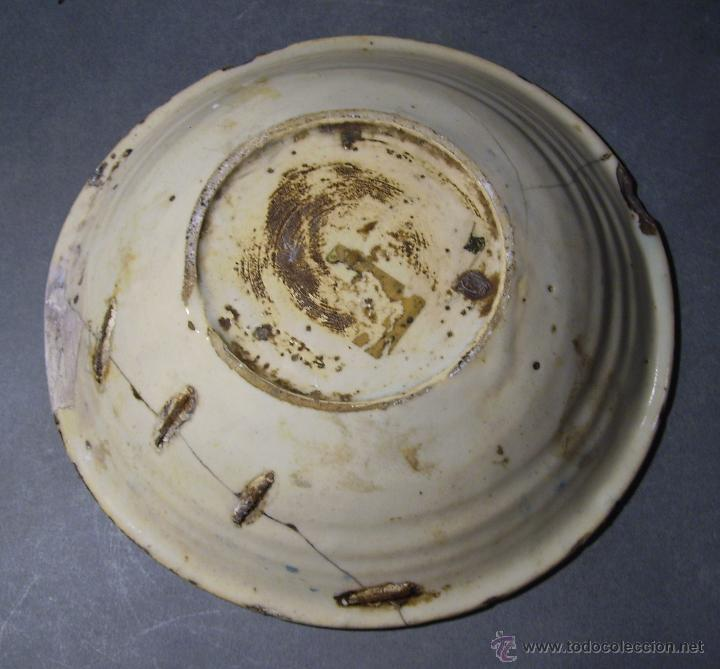 Antigüedades: PLATO CERÁMICA PUENTE DEL ARZOBISPO ( TALAVERA ) XIX - Foto 8 - 52870472