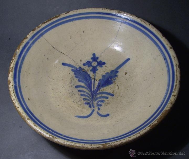 GRAN PLATO CERÁMICA DE TALAVERA XIX (Antigüedades - Porcelanas y Cerámicas - Talavera)