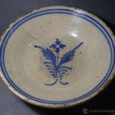 Antigüedades: GRAN PLATO CERÁMICA DE TALAVERA XIX . Lote 52870522