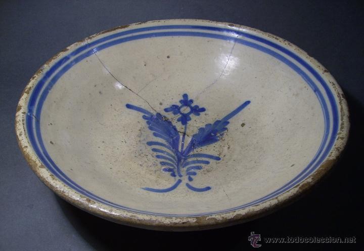 Antigüedades: GRAN PLATO CERÁMICA DE TALAVERA XIX - Foto 3 - 52870522
