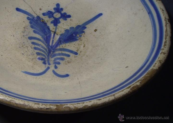 Antigüedades: GRAN PLATO CERÁMICA DE TALAVERA XIX - Foto 5 - 52870522
