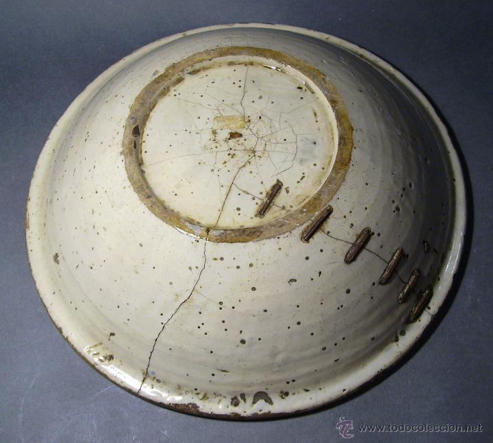 Antigüedades: GRAN PLATO CERÁMICA DE TALAVERA XIX - Foto 6 - 52870522