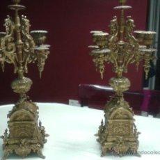 Antigüedades: CANDELABROS BRONCE. Lote 52881677