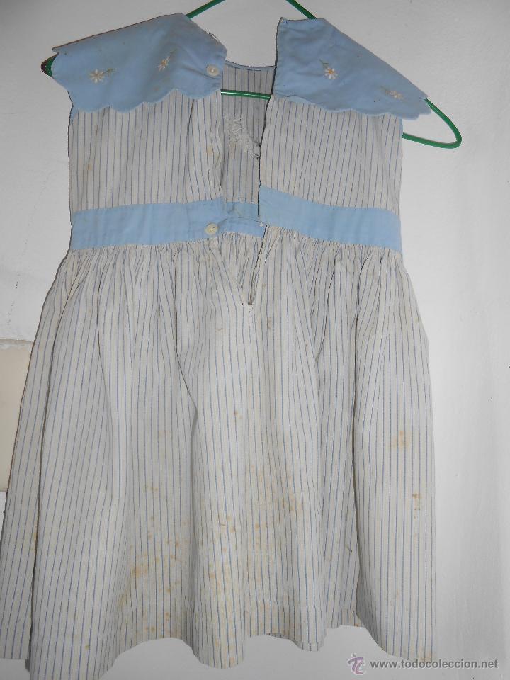 Antigüedades: VESTIDO -año 1950 - Para muestra ó aprovechar cuello y bolsillos- - Foto 4 - 52881869