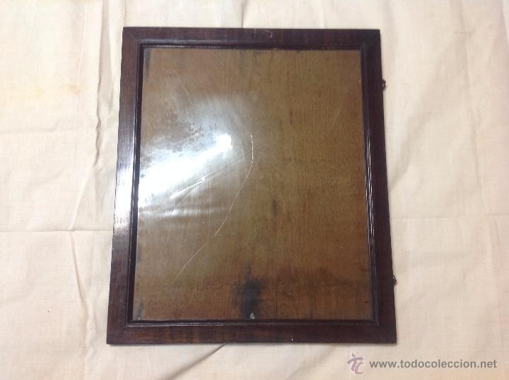 marco de madera con cristal antiguo - Comprar Marcos Antiguos de ...