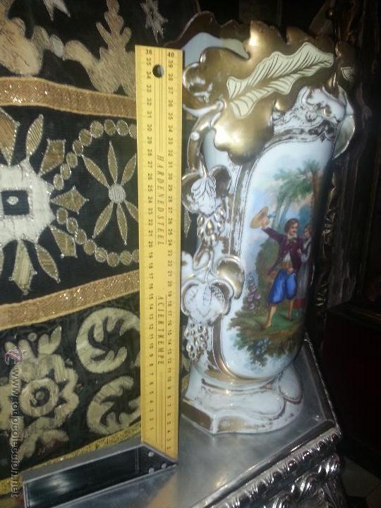 Antigüedades: GIGANTES PAREJA DE JARRONES ISABELINOS 47 X 32 CM VER FOTOS LEER, IDEAL CAPILLA VIRGEN ALTAR - Foto 10 - 52891383
