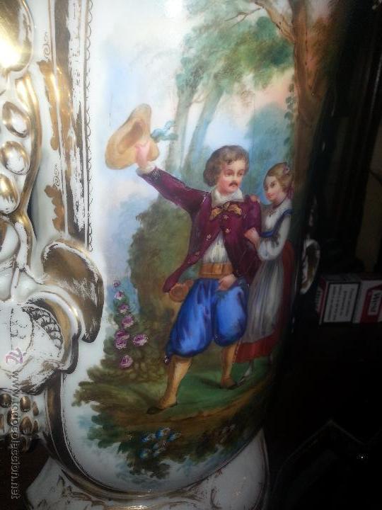 Antigüedades: GIGANTES PAREJA DE JARRONES ISABELINOS 47 X 32 CM VER FOTOS LEER, IDEAL CAPILLA VIRGEN ALTAR - Foto 12 - 52891383