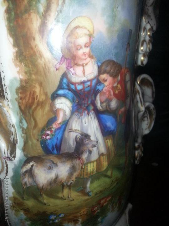 Antigüedades: GIGANTES PAREJA DE JARRONES ISABELINOS 47 X 32 CM VER FOTOS LEER, IDEAL CAPILLA VIRGEN ALTAR - Foto 13 - 52891383