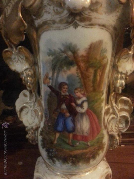 Antigüedades: GIGANTES PAREJA DE JARRONES ISABELINOS 47 X 32 CM VER FOTOS LEER, IDEAL CAPILLA VIRGEN ALTAR - Foto 14 - 52891383