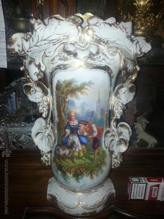 Antigüedades: GIGANTES PAREJA DE JARRONES ISABELINOS 47 X 32 CM VER FOTOS LEER, IDEAL CAPILLA VIRGEN ALTAR - Foto 15 - 52891383
