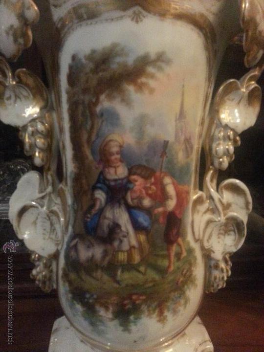 Antigüedades: GIGANTES PAREJA DE JARRONES ISABELINOS 47 X 32 CM VER FOTOS LEER, IDEAL CAPILLA VIRGEN ALTAR - Foto 17 - 52891383