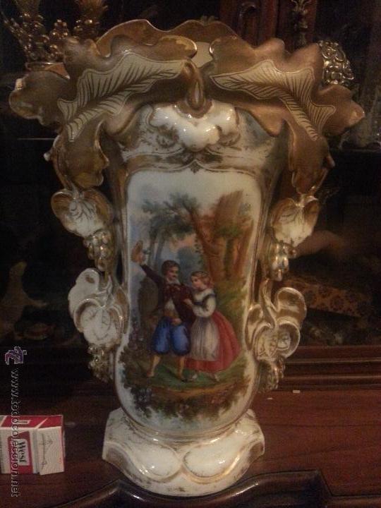 Antigüedades: GIGANTES PAREJA DE JARRONES ISABELINOS 47 X 32 CM VER FOTOS LEER, IDEAL CAPILLA VIRGEN ALTAR - Foto 18 - 52891383