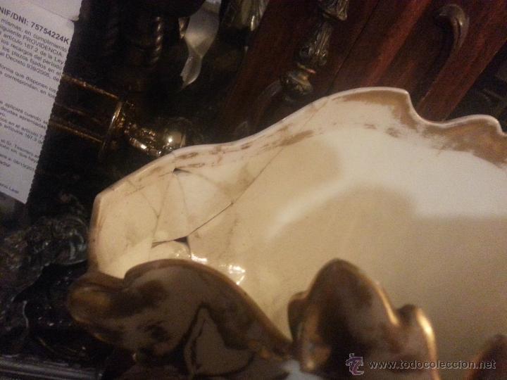 Antigüedades: GIGANTES PAREJA DE JARRONES ISABELINOS 47 X 32 CM VER FOTOS LEER, IDEAL CAPILLA VIRGEN ALTAR - Foto 19 - 52891383