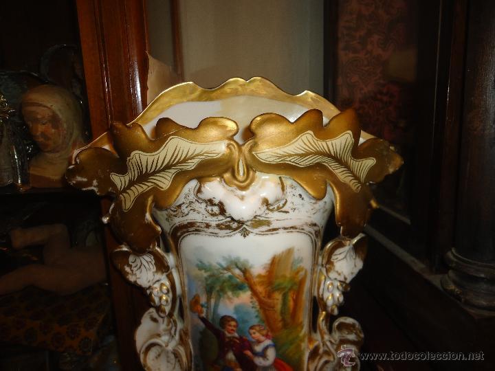 Antigüedades: GIGANTES PAREJA DE JARRONES ISABELINOS 47 X 32 CM VER FOTOS LEER, IDEAL CAPILLA VIRGEN ALTAR - Foto 21 - 52891383