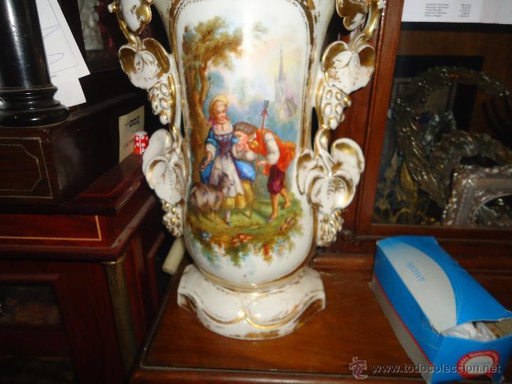 Antigüedades: GIGANTES PAREJA DE JARRONES ISABELINOS 47 X 32 CM VER FOTOS LEER, IDEAL CAPILLA VIRGEN ALTAR - Foto 23 - 52891383