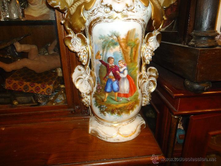 Antigüedades: GIGANTES PAREJA DE JARRONES ISABELINOS 47 X 32 CM VER FOTOS LEER, IDEAL CAPILLA VIRGEN ALTAR - Foto 24 - 52891383