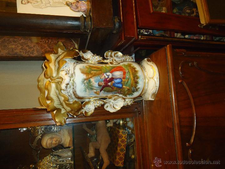 Antigüedades: GIGANTES PAREJA DE JARRONES ISABELINOS 47 X 32 CM VER FOTOS LEER, IDEAL CAPILLA VIRGEN ALTAR - Foto 25 - 52891383