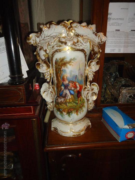 Antigüedades: GIGANTES PAREJA DE JARRONES ISABELINOS 47 X 32 CM VER FOTOS LEER, IDEAL CAPILLA VIRGEN ALTAR - Foto 26 - 52891383