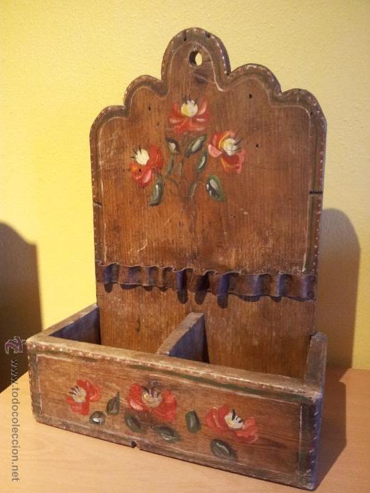 Antiguo Estante Estanteria Mueble Auxiliar Colg Comprar