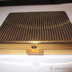 Antiguidades: POLVERA FRANCESA DE METAL DORADO. 6,5 X 9 X 2 CMS.. Lote 52905797
