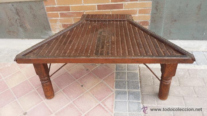 MESA DE ANTIGUO CARRO CHINO / PROCEDENCIA: XIAN / SOLO MADRID (Antigüedades - Muebles Antiguos - Mesas Antiguas)