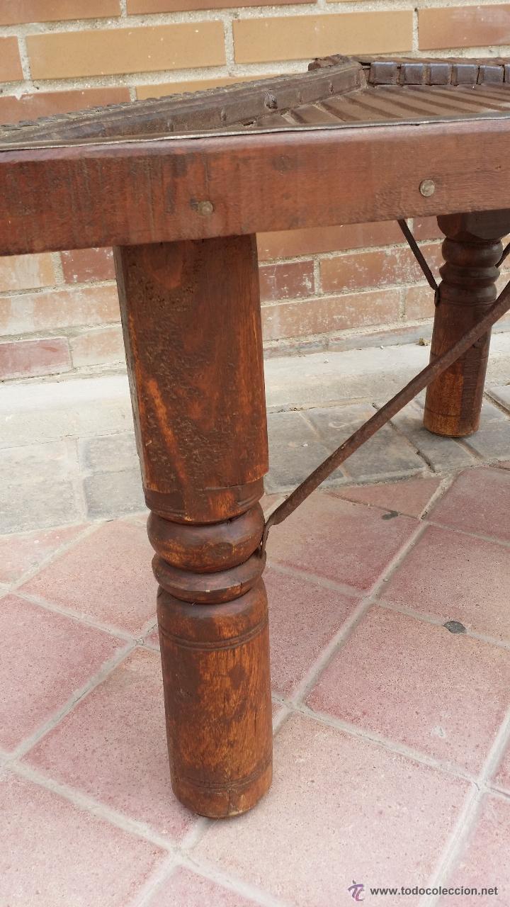 Antigüedades: MESA de antiguo CARRO CHINO / Procedencia: Xian / SOLO MADRID - Foto 7 - 52906955