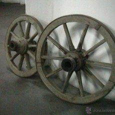 Antigüedades: RUEDAS CARRO CARRUAJE COCHE CABALLOS. Lote 106653651
