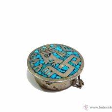 Antigüedades: ANTIGUA CAJITA DE PLATA Y ESMALTADA CON CONTRASTE - SIGLO XX. Lote 52923699