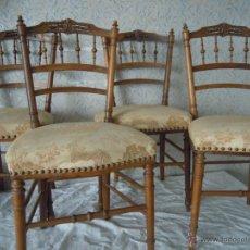 Antigüedades: SILLAS CLÁSICAS TAPIZADAS. Lote 52925655