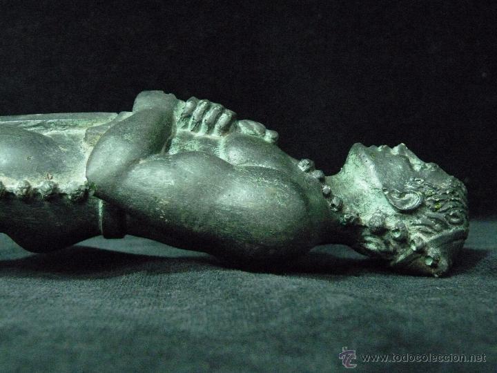 Antigüedades: ESCULTURA DE RESINA PATINADA EN BRONCE. CABALLERO ESPADA LABRADOR BANDOLERO OSCAR 34 cm. - Foto 8 - 52928423