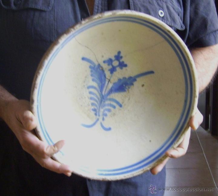 Antigüedades: GRAN PLATO CERÁMICA DE TALAVERA XIX - Foto 7 - 52870522