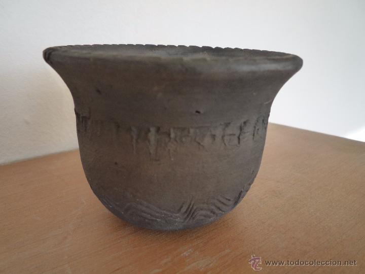 Antigüedades: MACETA TERRACOTA Terrissa CERÁMICA NEGRA CATALANA / Sello AMPHORA GERONA ESPAÑA años 40 - 50 - Foto 13 - 52930559
