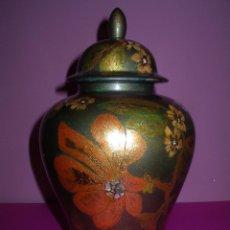 Antigüedades: TIBOR JARRÓN DE CERÁMICA CATALANA 34 CM ALTURA. PERFECTO. Lote 52930631