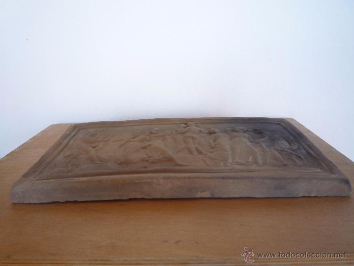 Antigüedades: Placa Relieve Estuco ESCENA MITOLÓGICA Terracota Terrissa CERÁMICA NEGRA CATALANA años 40 ¡Único TC! - Foto 10 - 52934151