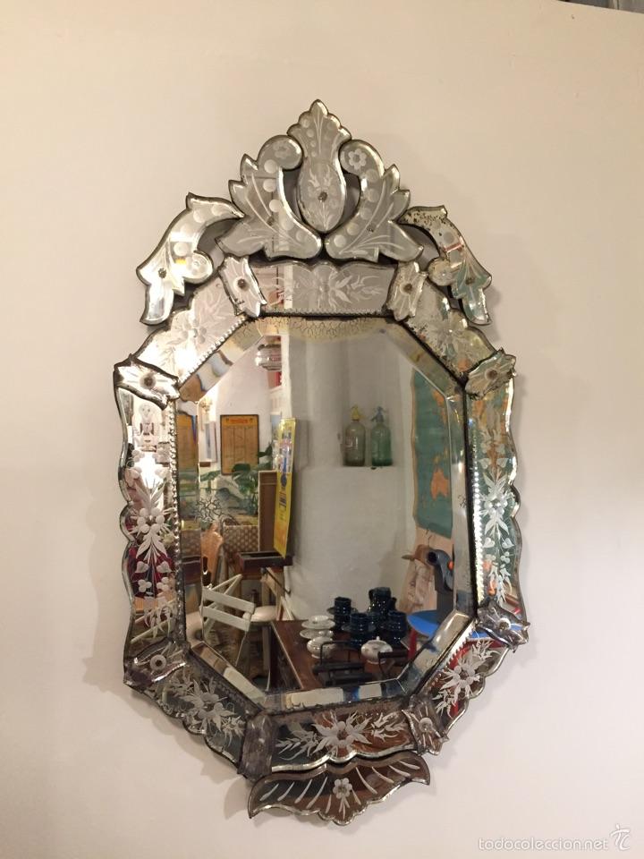 Espejo veneciano finales s xix comprar espejos - Espejo veneciano antiguo ...