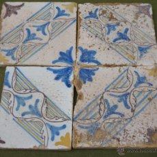 Antigüedades: LOTE DE 4 AZULEJOS ANTIGUOS DE TOLEDO / CAPITAL. AZULEJO.. Lote 52944553