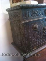 Antigüedades: ANTIGUO BARGUEÑO TALLAS MAGNIFICAS OBRA DE ARTE CAJONES Y LLAVE SGLO XVIII - Foto 3 - 52948120