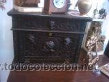 Antigüedades: ANTIGUO BARGUEÑO TALLAS MAGNIFICAS OBRA DE ARTE CAJONES Y LLAVE SGLO XVIII - Foto 4 - 52948120