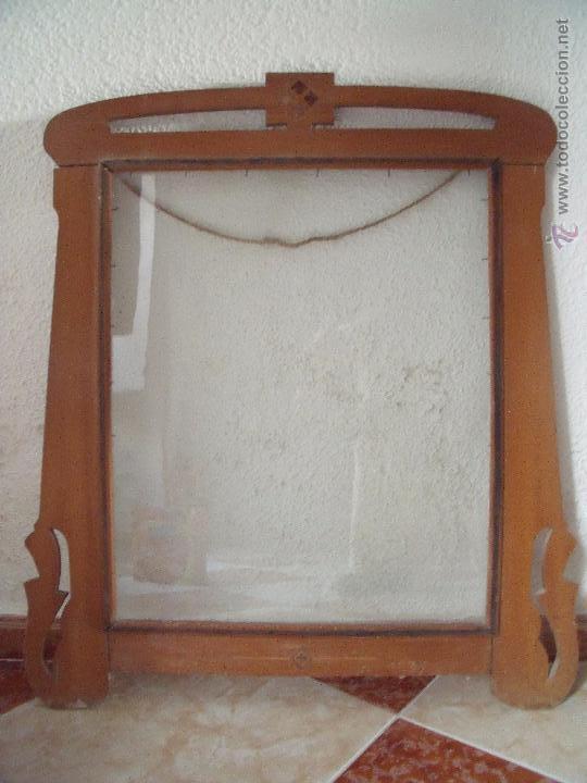 marco.-marco de madera antiguo con cristal.-med - Comprar Marcos ...