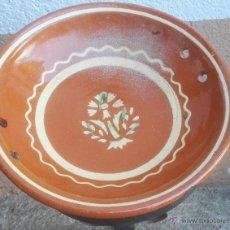 Antigüedades: ALFARERÍA CATALANA PLATO DE LA BISBAL DEL CERAMISTA SALOMÓ, S. XX.. Lote 52966181