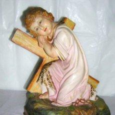 Oggetti Antichi: NIÑO PASIONARIO SELLADO, EL SANTO CRISTO, OLOT, MUY ANTIGUO. Lote 52968642