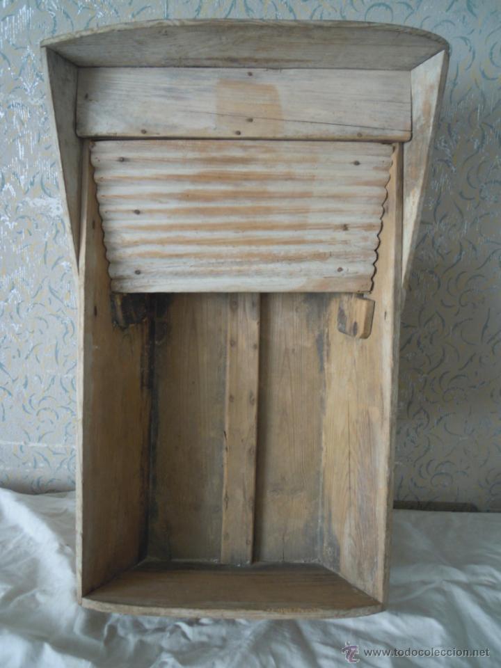 Estregadera o tabla de lavar antigua con madera comprar - Decorar tabla madera ...