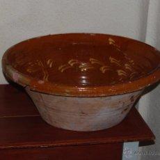 Antigüedades: ANTIGUO LEBRILLO DE BARRO - PLATO DE CERÁMICA - 50 CM DIÁMETRO. Lote 52971153