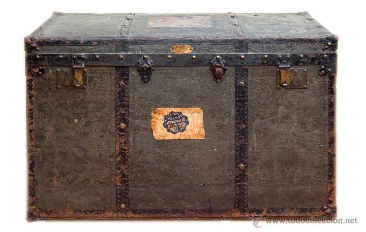 precioso baúl de viaje, s.xix. cinco cajones. p - Comprar Baúles ...