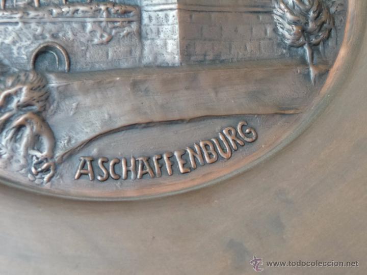 Antigüedades: BONITO PLATO EN COBRE ADOLF ADRIAN - Foto 8 - 52975181