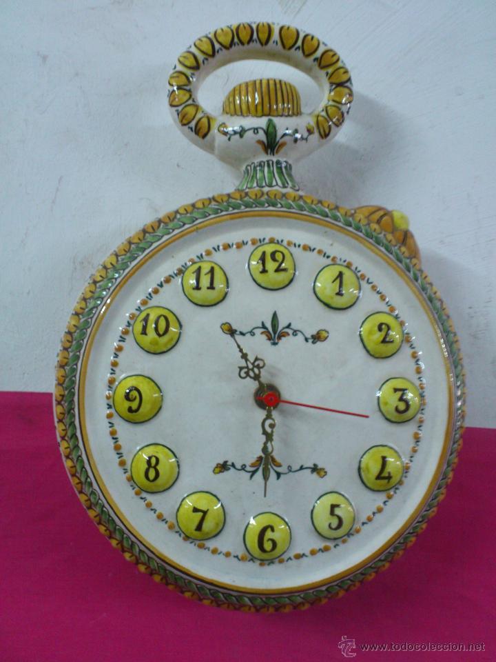 Reloj De Pared Artistica Ceramica Biaralicante Maestre En XPTkuiOZ