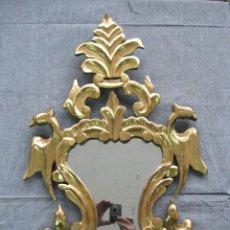 Antigüedades: CORNUCOPIA DE MADERA TALLADA Y DORADA. ESPAÑA S.XIX. Lote 52981232